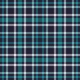 Modelo inconsútil del vector del tartán azulverde Textura a cuadros de la tela escocesa Fondo cuadrado geométrico para la tela Imagen de archivo libre de regalías