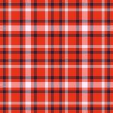 Modelo inconsútil del vector del tartán blanco y negro rojo Textura a cuadros de la tela escocesa Fondo cuadrado geométrico para  Imagen de archivo libre de regalías