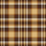 Modelo inconsútil del vector del tartán de Brown Textura a cuadros de la tela escocesa Imagen de archivo libre de regalías