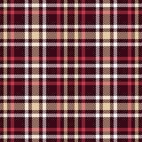 Modelo inconsútil del vector del tartán rojo y marrón Textura a cuadros de la tela escocesa imágenes de archivo libres de regalías
