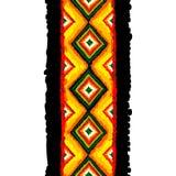 Modelo inconsútil del vector tribal Fondo abstracto drenado mano Imagen de archivo