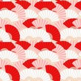 Modelo inconsútil del ventilador japonés colorido Imagen de archivo libre de regalías