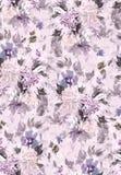 Modelo inconsútil del verano con las flores de la acuarela Imagenes de archivo