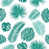 Modelo inconsútil del verano con las hojas tropicales Foto de archivo