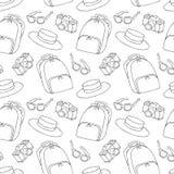 Modelo inconsútil del verano de la moda de la calle en blanco y negro Imágenes de archivo libres de regalías
