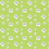 Modelo inconsútil del verde de la hoja del papel del anuncio Fotografía de archivo libre de regalías