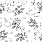 Modelo inconsútil del vino Fotografía de archivo libre de regalías