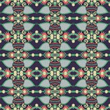 Modelo inconsútil del vintage de la geometría, estilo étnico Imagen de archivo libre de regalías