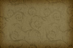 Modelo inconsútil del vintage del papel pintado clásico en fondo marrón Imagenes de archivo