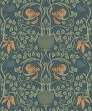 Modelo inconsútil del vintage floral para los papeles pintados retros encantado stock de ilustración