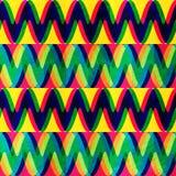 Modelo inconsútil del zigzag con efecto del grunge Imagenes de archivo