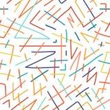 Modelo inconsútil dibujado mano colorida de los niños ilustración del vector