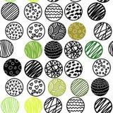 Modelo inconsútil dibujado mano con los círculos Imagen de archivo libre de regalías