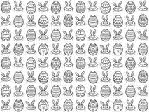 Modelo inconsútil dibujado mano de los huevos de Pascua Ilustración del vector Imágenes de archivo libres de regalías