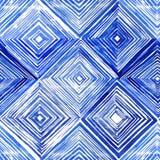 Modelo inconsútil dibujado mano del Rhombus Imagen de archivo