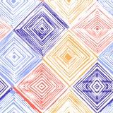 Modelo inconsútil dibujado mano del Rhombus fotografía de archivo libre de regalías