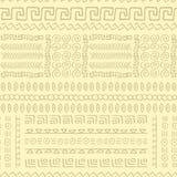 Modelo inconsútil dibujado mano del vector étnico del estilo Imagen de archivo