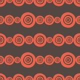 Modelo inconsútil dibujado mano geométrica de África del ornamento del círculo Fotos de archivo