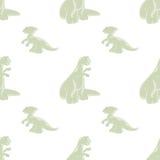 Modelo inconsútil Dinosaurios divertidos Fotografía de archivo libre de regalías