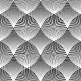 Modelo inconsútil Efecto óptico convexo y cóncavo stock de ilustración