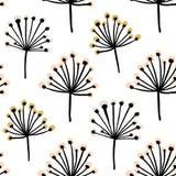 Modelo inconsútil elegante con la rama de la flor Fondo escandinavo del estilo Grande para la tela, materia textil, papel pintado Foto de archivo