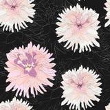Modelo inconsútil elegante con las flores decorativas dibujadas mano de la dalia del gerbera, elementos del diseño libre illustration