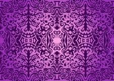 Modelo inconsútil elegante violeta Foto de archivo libre de regalías