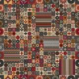 Modelo inconsútil Elementos decorativos de la vendimia Fondo dibujado mano Islam, árabe, indio, adornos del otomano Fotos de archivo