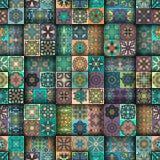 Modelo inconsútil Elementos decorativos de la vendimia Fondo dibujado mano Islam, árabe, indio, adornos del otomano Perfeccione p Foto de archivo