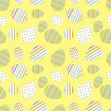 Modelo inconsútil en colores pastel del vector con los huevos de Pascua Imagen de archivo libre de regalías