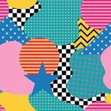 Modelo inconsútil en el estilo de Memphis Fondos abstractos w del vector Fotografía de archivo