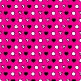 Modelo inconsútil en el estilo de redes sociales Fondo rosado Fotografía de archivo libre de regalías