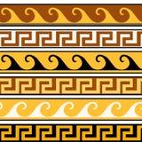 Modelo inconsútil en el illustratio griego del vector del ornamento de la tira Imagen de archivo