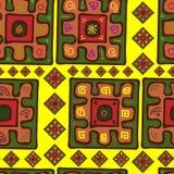Modelo inconsútil en estilo africano stock de ilustración