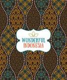 Modelo inconsútil en estilo indonesio del lujo del batik del vintage stock de ilustración