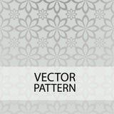 Modelo inconsútil en la flor gris de la forma del fondo libre illustration