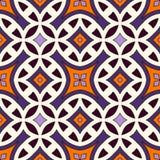 Modelo inconsútil en los colores tradicionales de Halloween Fondo abstracto con los ornamentos étnicos brillantes Foto de archivo libre de regalías