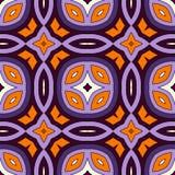 Modelo inconsútil en los colores tradicionales de Halloween Fondo abstracto con los ornamentos étnicos brillantes Foto de archivo
