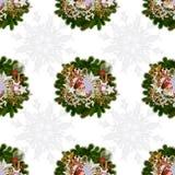 Modelo inconsútil en una Navidad theme-5 fotos de archivo libres de regalías