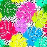 Modelo inconsútil enrrollado del verano de las hojas de palma ilustración del vector