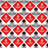 Modelo inconsútil escocés negro y rojo de la tela escocesa de tartán Textura del tartán, tela escocesa, manteles, ropa, camisas,  ilustración del vector