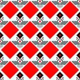 Modelo inconsútil escocés negro y rojo de la tela escocesa de tartán Textura del tartán, tela escocesa, manteles, ropa, camisas,  stock de ilustración