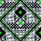Modelo inconsútil escocés negro y verde Textura del tartán, tela escocesa, manteles, ropa, camisas, vestidos, papel, lecho, stock de ilustración
