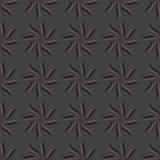 Modelo inconsútil estilizado del anís de estrella Fondo gris oscuro Imagen de archivo libre de regalías