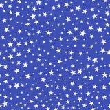 Modelo inconsútil Estrellas blancas en fondo azul Foto de archivo libre de regalías