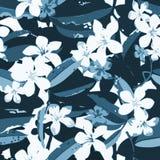Modelo inconsútil exótico floral tropical del vector Imágenes de archivo libres de regalías
