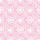Modelo inconsútil exhausto de la mano rosada linda de la flor del extracto del vector fotografía de archivo