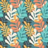 Modelo inconsútil floral abstracto con texturas dibujadas mano de moda Fotografía de archivo