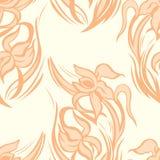 Modelo inconsútil floral anaranjado de iris abstractos Vector Imagenes de archivo