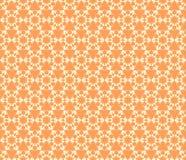 Modelo inconsútil floral anaranjado del vector, fondo Foto de archivo